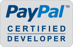 PayPal Certified Developer Logo