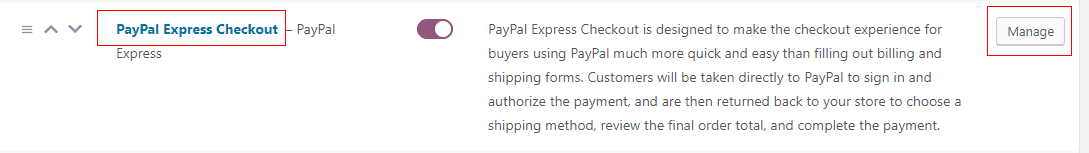 WooCommerce PayPal Express Checkout Settings