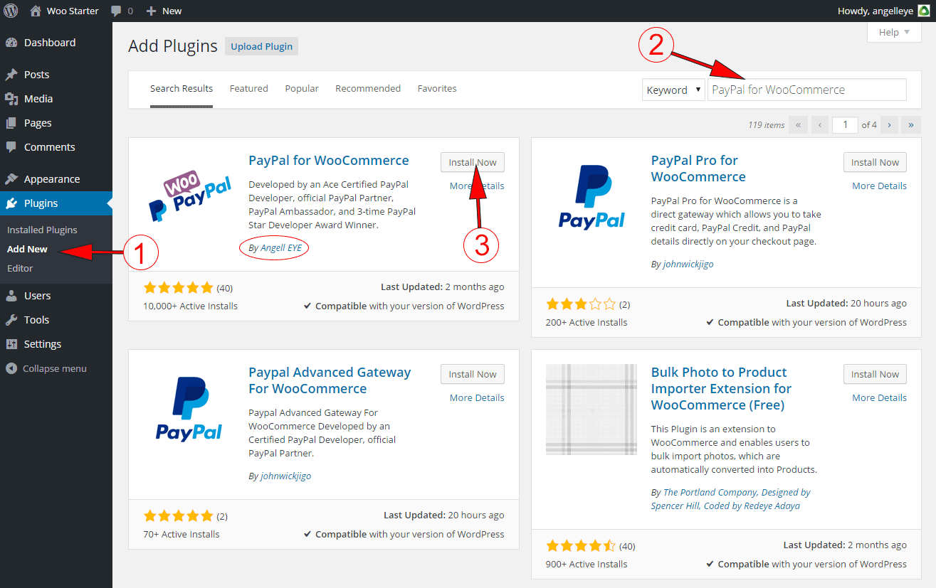 WooCommerce PayPal Install Guide