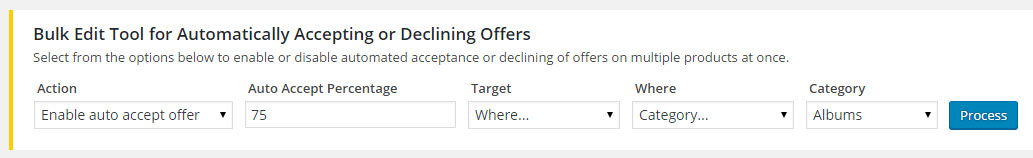 Offers for WooCommerce Auto Accept Auto Decline
