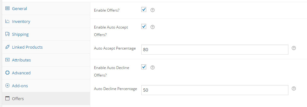 Offers for WooCommerce Auto Accept Auto Decline Offers