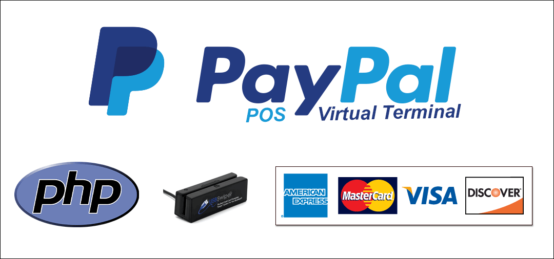 PayPal POS Credit Card Payment PHP Virtual Terminal
