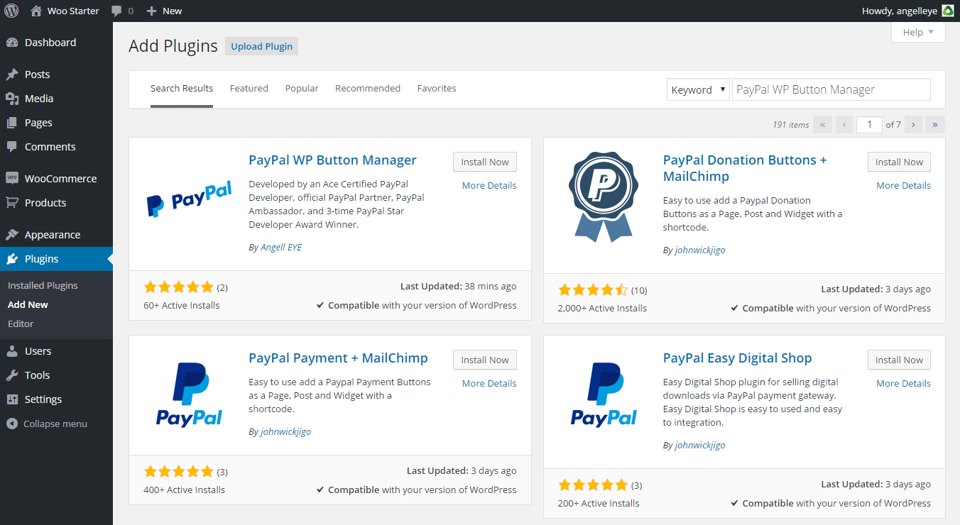 PayPal WP Button Manager Automatic Installation