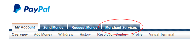 How to Create a PayPal Button - Merchant Services Tab