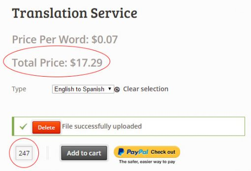 WooCommerce Pricing Per Word