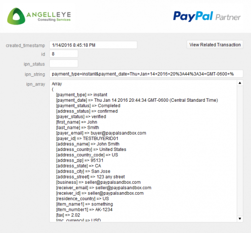 FileMaker PayPal IPN Raw Data