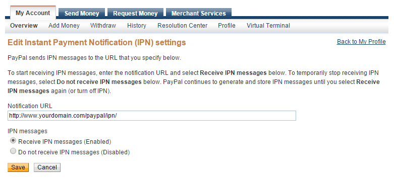 FileMaker PayPal IPN Configuration
