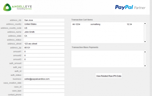FileMaker PayPal IPN Transaction Data