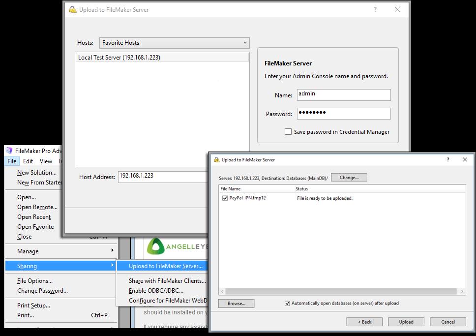 PayPal IPN FileMaker Server Upload