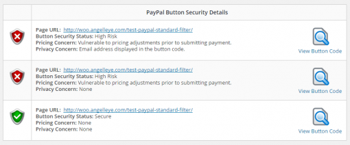 PayPal Security Scanner Report