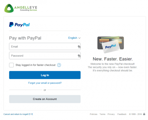 CodeIgniter PayPal Integration Express Checkout Login