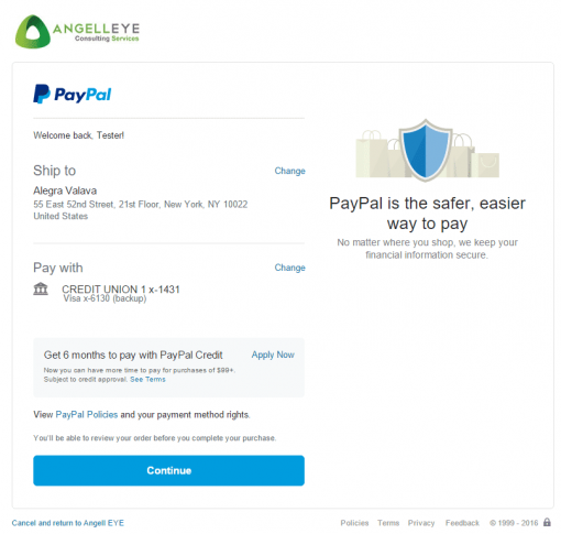 CodeIgniter PayPal Integration Express Checkout Review