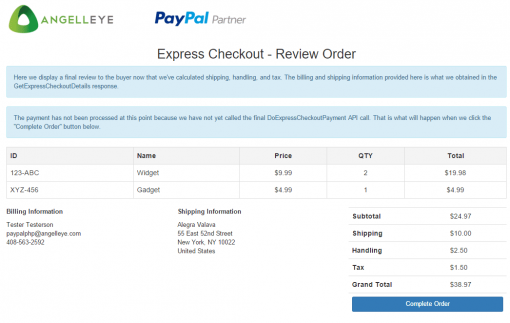 CodeIgniter PayPal Integration Express Checkout Site Review