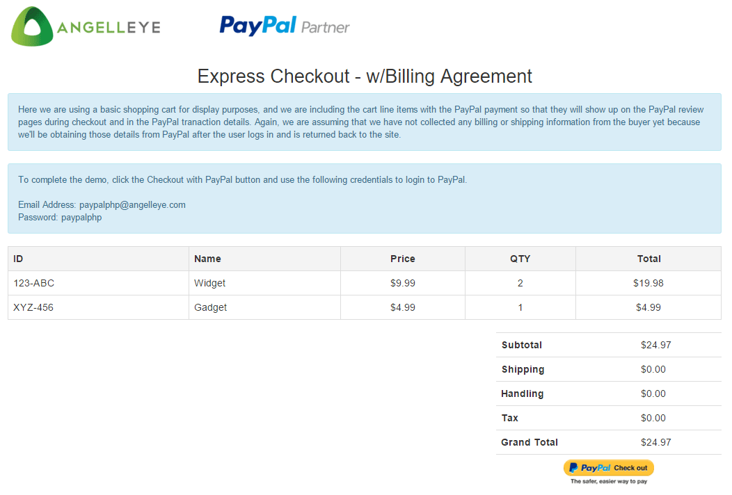 Codeigniter Paypal Integration Express Checkout Billing Agreement