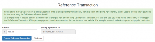 CodeIgniter PayPal Integration Express Checkout Billing Agreement Reference Transaction