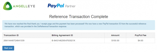 CodeIgniter PayPal Integration Express Checkout Billing Agreement Reference Transation