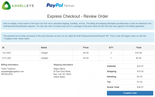 CodeIgniter PayPal Integration Express Checkout Billing Agreement Site Review