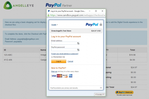 CodeIgniter PayPal Integration Digital Goods Login