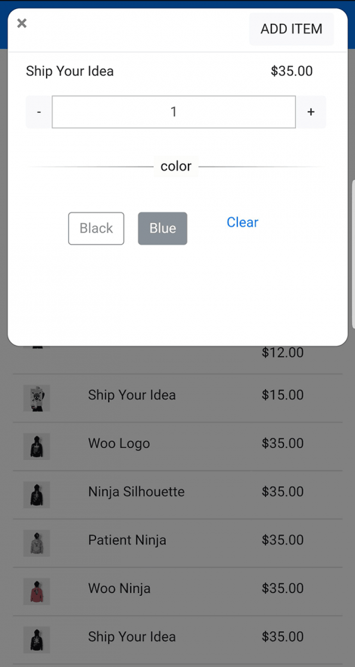 PayPal Here WooCommerce POS Add Item