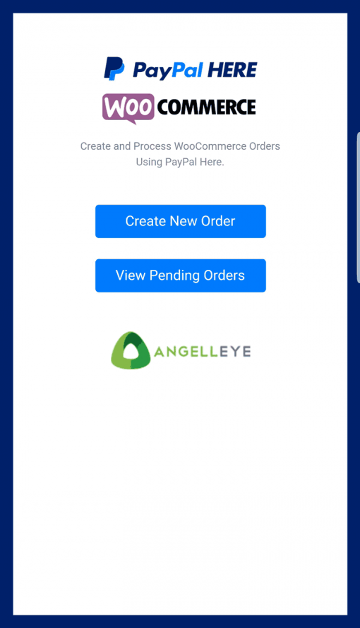 PayPal Here WooCommerce POS Dashboard