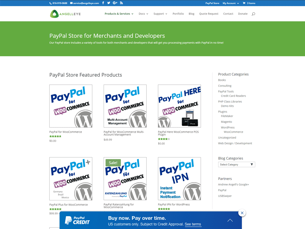 PayPal Credit Banner Ad