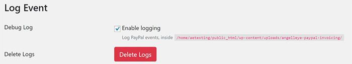PayPal Invoice WordPress Logging