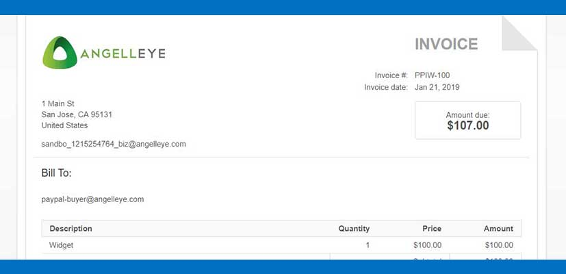 Create an Invoice On PayPal