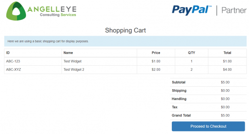 PayPal Website Payments Pro DoDirectPayment Demo Kit Shopping Cart
