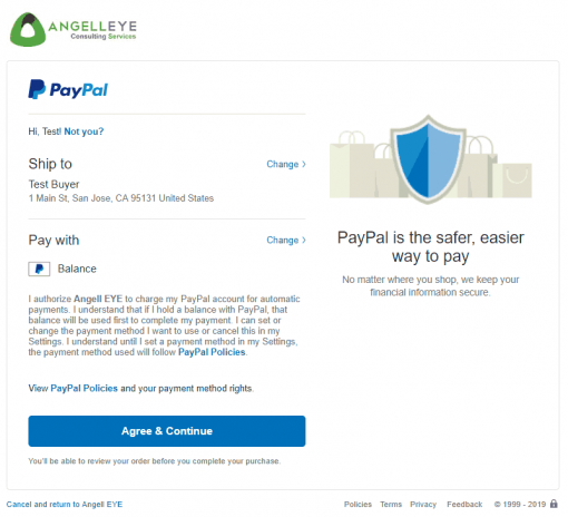 PayPal Express Checkout PHP SDK Billing Agreement Demo Kit Agreement