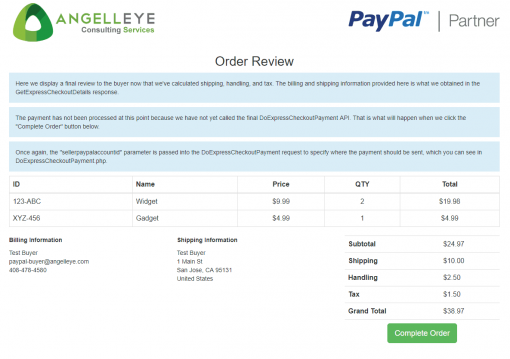 PayPal Express Checkout Third Party Without Permissions Review