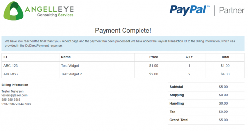 PayPal Website Payments Pro DoDirectPayment Demo Kit Complete