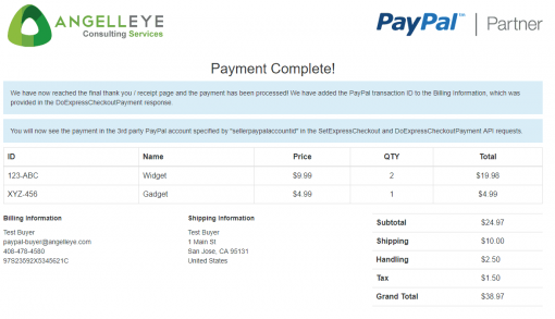 PayPal Express Checkout Third Party Without Permissions Complete