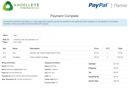 PayPal Checkout PHP REST Payments API v1 Demo Kit Complete