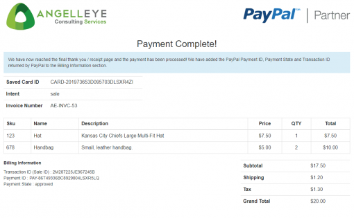 PayPal Saved Credit Card Vault Token Payment Reference Transaction PHP REST Demo Kit Complete