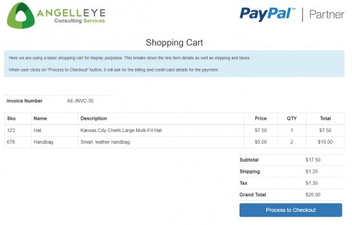 PayPal REST Direct Credit Card Processing PHP Demo Kit Shopping Cart