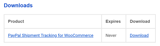 PayPal Shipment Tracking for WooCommerce Download Link