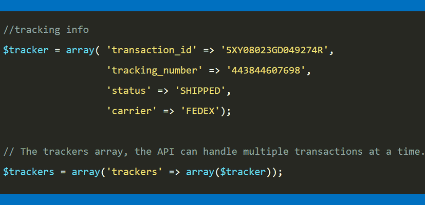 How to Integrate PayPal Tracking API in PHP