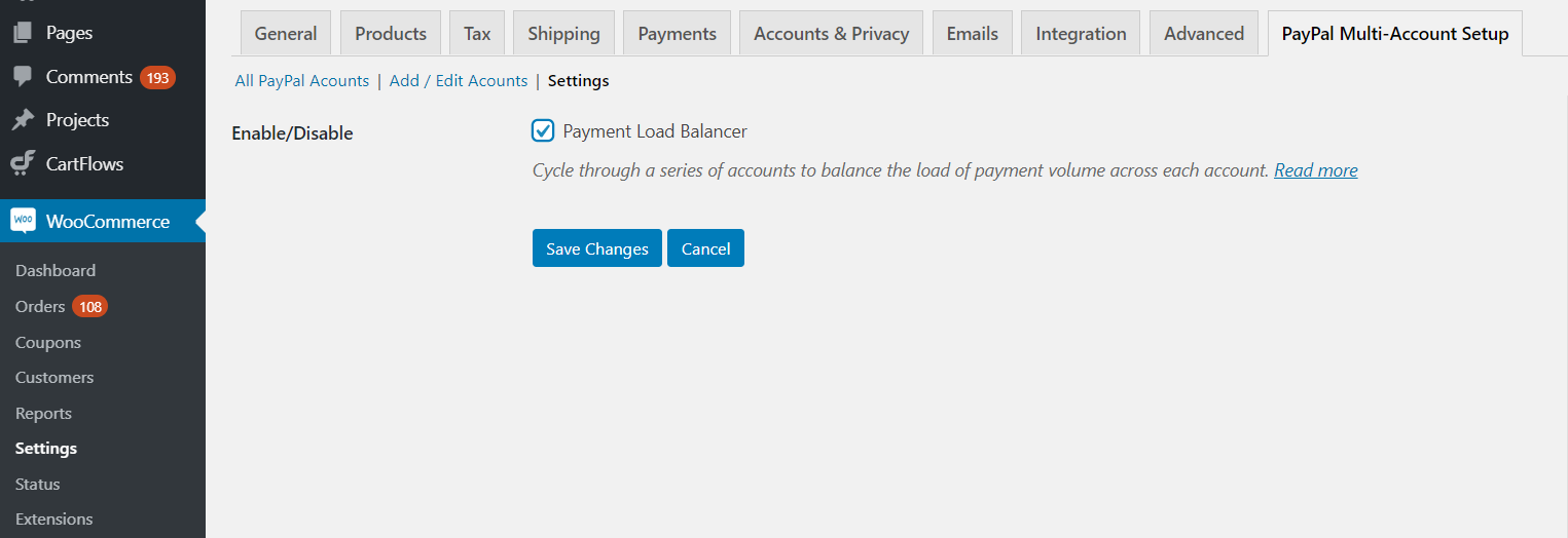 Payment Load Balancer - PayPal for WooCommerce Multi Accounts Management