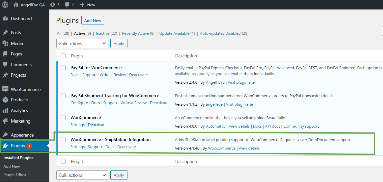 Step 1: Shipstation with PayPal Shipment Tracking for WooCommerce Plugin