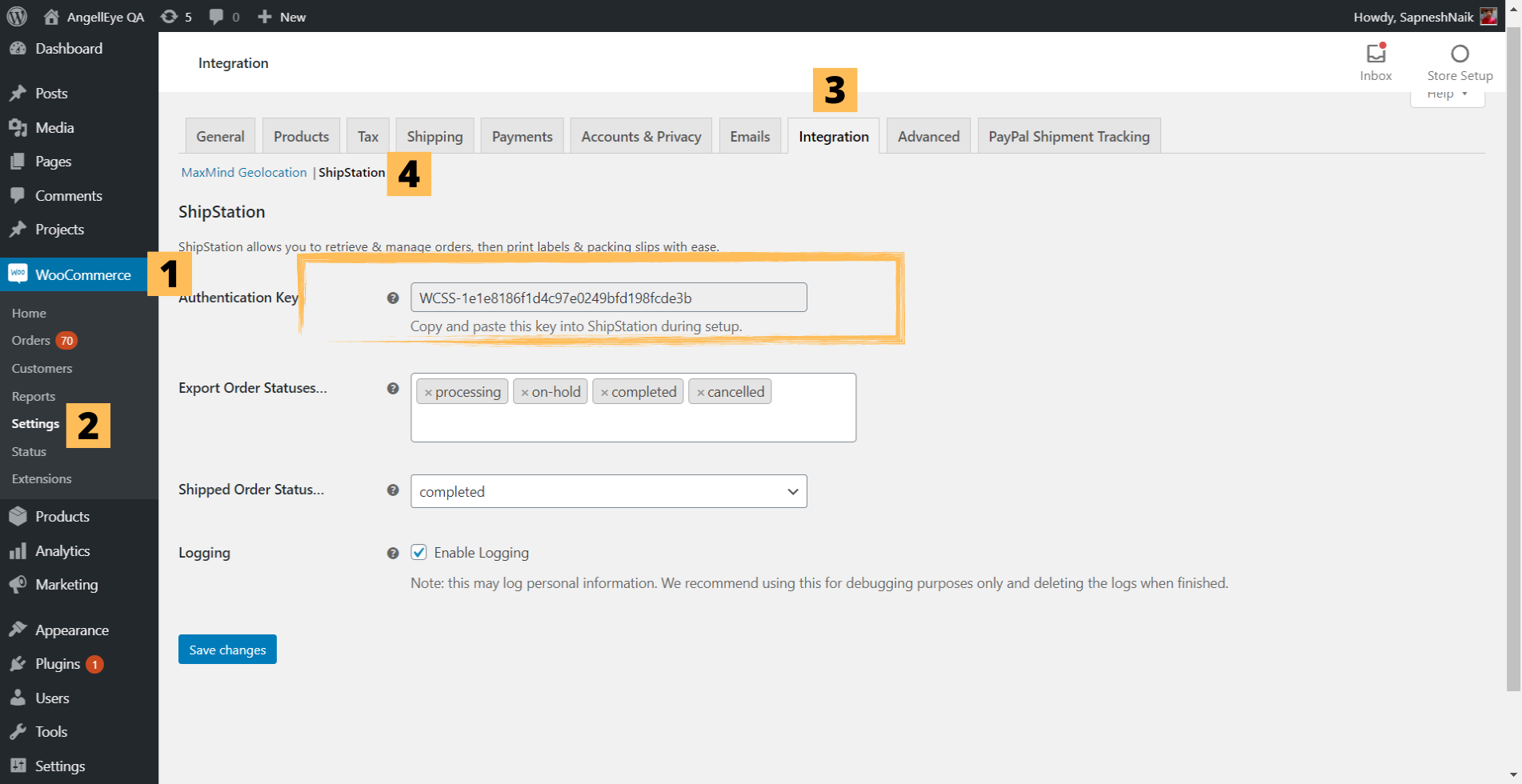 Step 1.1: Shipstation with PayPal Shipment Tracking for WooCommerce Plugin