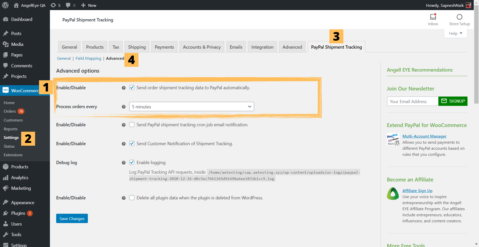Step 2.2: Shipstation with PayPal Shipment Tracking for WooCommerce Plugin