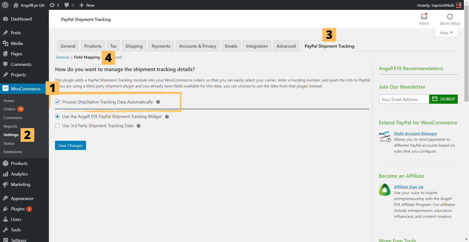 Step 2: Shipstation with PayPal Shipment Tracking for WooCommerce Plugin